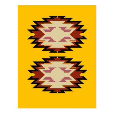 Aztec Themed Design exotic aztecs Gold Postcard