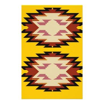 Aztec Themed Design exotic aztecs Gold Stationery