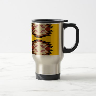Aztec Themed Design exotic aztecs Gold Travel Mug