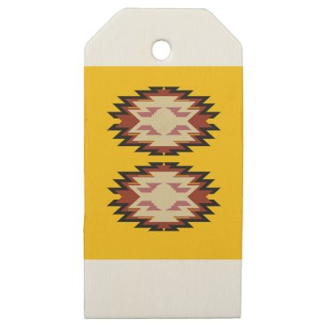 Aztec Themed Design exotic aztecs Gold Wooden Gift Tags