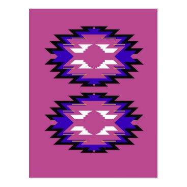 Aztec Themed Design exotic pink elements aztecs postcard