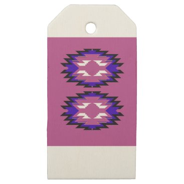 Aztec Themed Design exotic pink elements aztecs wooden gift tags