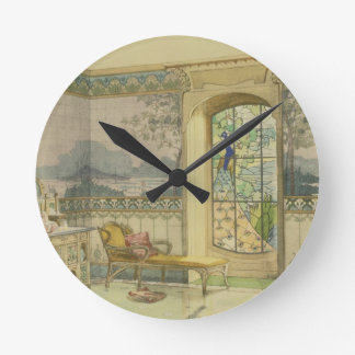 Design for a Bathroom, from 'Interieurs Modernes', Round Wall Clocks