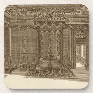 Design for a Bedchamber with a State Bed, from the Beverage Coaster