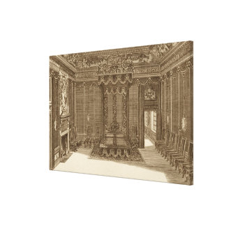Design for a Bedchamber with a State Bed, from the Canvas Print