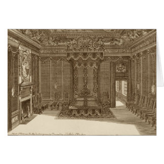 Design for a Bedchamber with a State Bed, from the Card