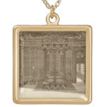 Design for a Bedchamber with a State Bed, from the Square Pendant Necklace