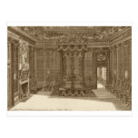 Design for a Bedchamber with a State Bed, from the Postcard