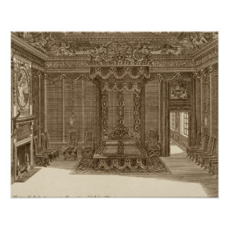 Design for a Bedchamber with a State Bed, from the Poster