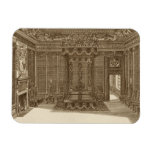 Design for a Bedchamber with a State Bed, from the Rectangular Photo Magnet