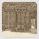 Design for a Bedchamber with a State Bed, from the Square Sticker