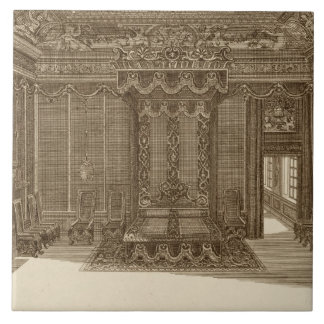 Design for a Bedchamber with a State Bed, from the Tile