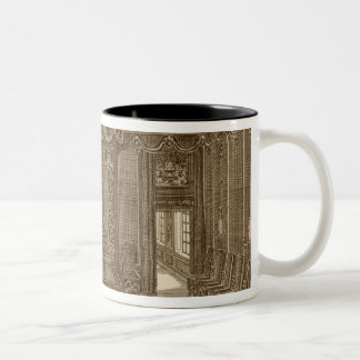 Design for a Bedchamber with a State Bed, from the Two-Tone Coffee Mug