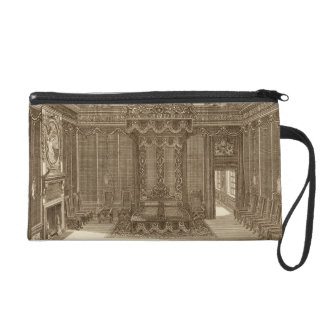 Design for a Bedchamber with a State Bed, from the Wristlet Purse