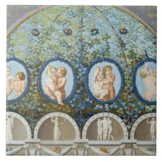 Design for a Ceiling Fresco, published c.1780 (gou Ceramic Tile