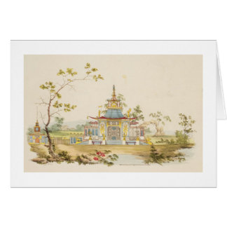 Design for a Chinese Temple, c.1810 (pen & ink and Card