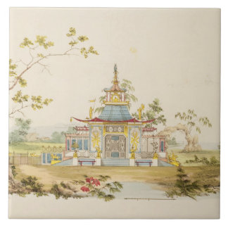 Design for a Chinese Temple, c.1810 (pen & ink and Tile