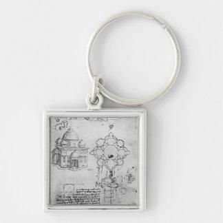 Design for a church, fol. 4r keychain