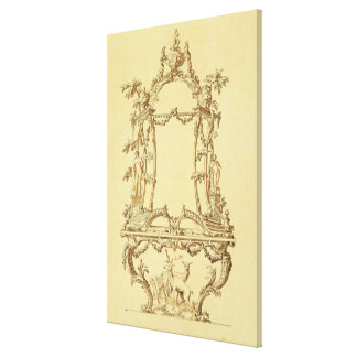 Design for a Console Table (pen & ink wash) Canvas Print