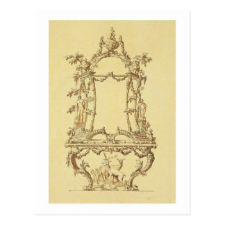 Design for a Console Table (pen & ink wash) Postcard