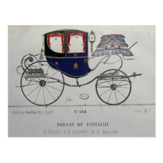 Design for a 'Coupe Dorsay de Fantaisie' Postcard