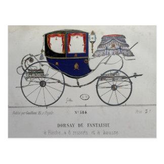 Design for a 'Coupe Dorsay de Fantaisie' Postcard