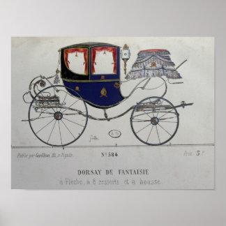Design for a 'Coupe Dorsay de Fantaisie' Poster