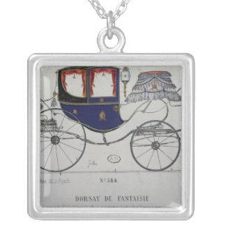Design for a 'Coupe Dorsay de Fantaisie' Square Pendant Necklace
