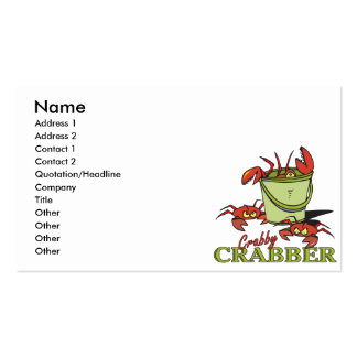 design for a crabby crabber business card templates