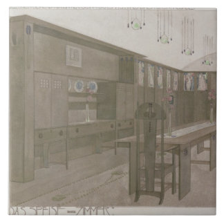 Design for a Dining Room, 1901 (colour litho) Tile