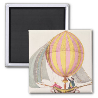Design for a dirigible, French, c.1785 2 Inch Square Magnet