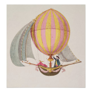 Design for a dirigible French c 1785 Print