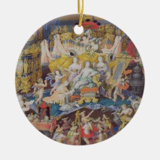 Design for a Fan, possibly for Madame de Montespan Ceramic Ornament