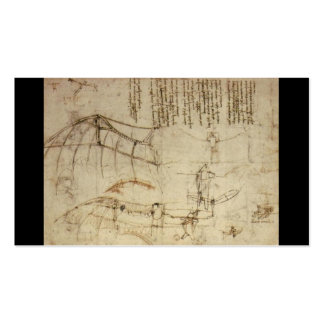 Design for a Flying Machine by Leonardo Da Vinci Double-Sided Standard Business Cards (Pack Of 100)