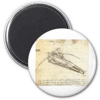 Design for a Flying Machine by Leonardo Da Vinci Magnet