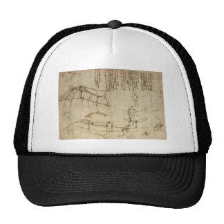 Design for a Flying Machine by Leonardo Da Vinci Trucker Hat