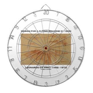 Design For A Flying Machine (Leonardo da Vinci) Dart Board