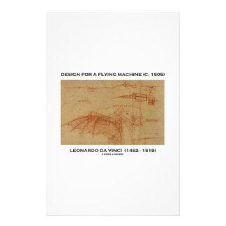 Design For A Flying Machine (Leonardo da Vinci) Stationery
