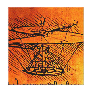 Design For A Helicopter -  Canvas Reproduction Gallery Wrapped Canvas