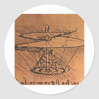 Design for a helicopter classic round sticker