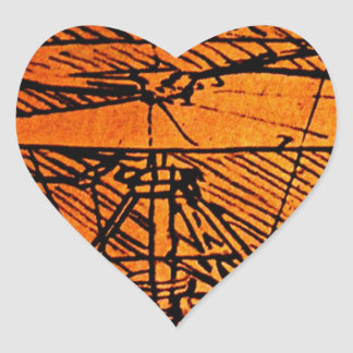 Design For A Helicopter Heart Sticker