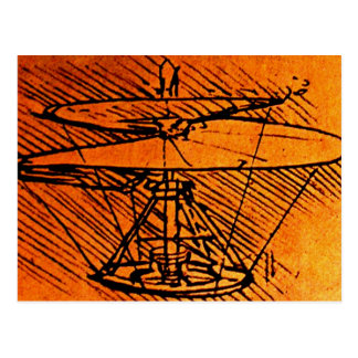 Design For A Helicopter Postcard