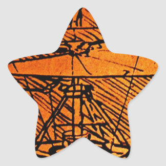 Design For A Helicopter Star Sticker