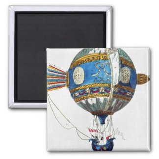 Design for a hot-air balloon with a diameter of 12 2 inch square magnet