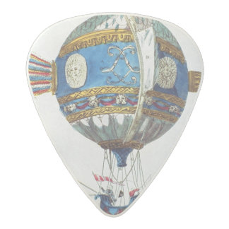 Design for a hot-air balloon with a diameter of 12 acetal guitar pick