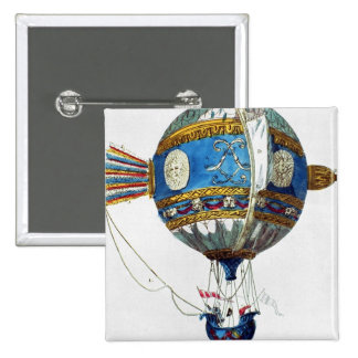 Design for a hot-air balloon with a diameter of 12 buttons