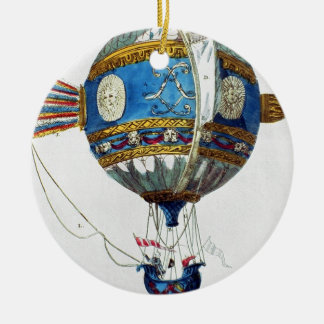 Design for a hot-air balloon with a diameter of 12 ceramic ornament