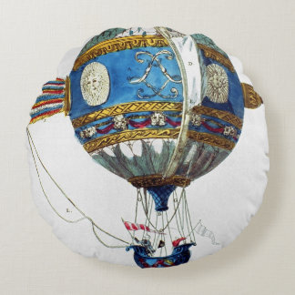Design for a hot-air balloon with a diameter of 12 round pillow