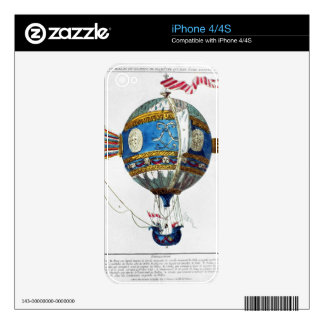 Design for a hot-air balloon with a diameter of 12 skin for iPhone 4S