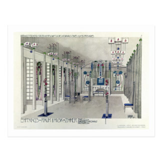 Design for a Music Room with panels by Margaret Ma Postcard